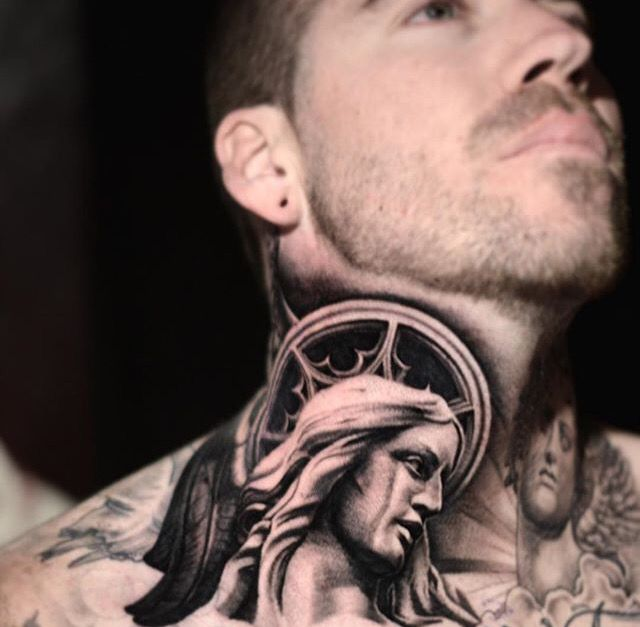 Neck And Jaw Tattoo: 118 Best Images About Throat Tattoos On Pinterest