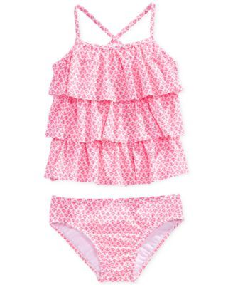 Carter's Little Girls' or Toddler Girls' 2-Piece Tankini Swimsuit | macys.com