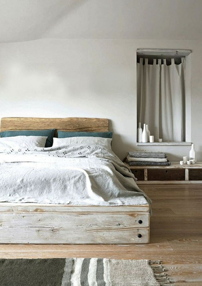 bett aus paletten selber bauen cooles schlafzimmer - Wie Baut Man Ein Kopfteil Aus Paletten