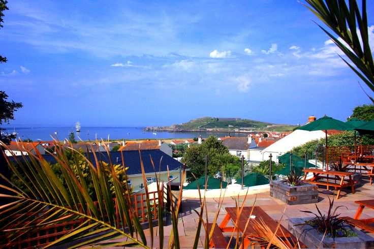 Alderney Harbour Lights Hotel. Lovely views from the terrace.