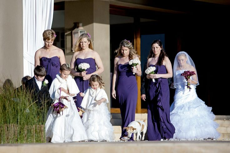 Mismatched #Bridesmaids | Retinue and #bridesmaid dresses from #brideandco | color is known as lapis (deep purple)
