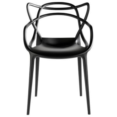 Super stylish for the backyard. Also, super expensive. Masters Chair by Kartell