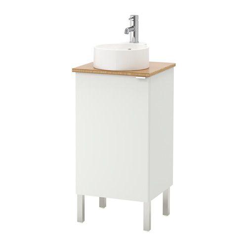 gutviken wastafel met onderkast deur wit bamboe