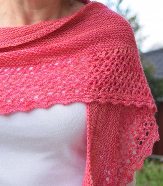 Lace Knit Shawl Pattern Trientalis Shawlette Shawl Knitting
