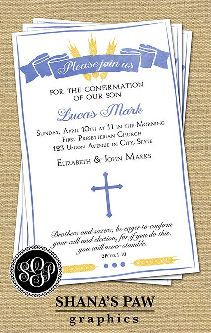 18 best Confirmation Invitations images on Pinterest | Card ...