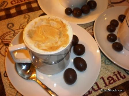 A quick an easy to make rich, creamy, frothy and yummy...licious coffee!!!