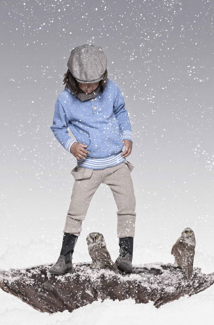 Hoodie sweater and suspender trouser in lambswool from Mole - Little Norways AW13 collection