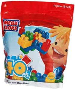 Play, store and take the Mega Bloks Maxi Blok 40 Piece Set wherever you go. It's the perfect toy for building big imaginations! The big blocks are ideal for little hands so that your child can have a whole-hand grasp and be able to sort, stack and build all kinds of constructions!  £9.99 from Argos
