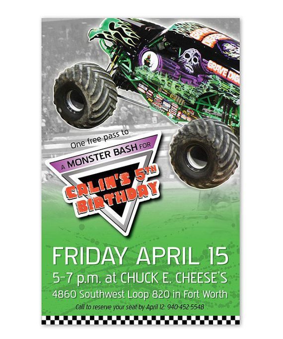 Best Monster Truck Birthday Party Images On Pinterest