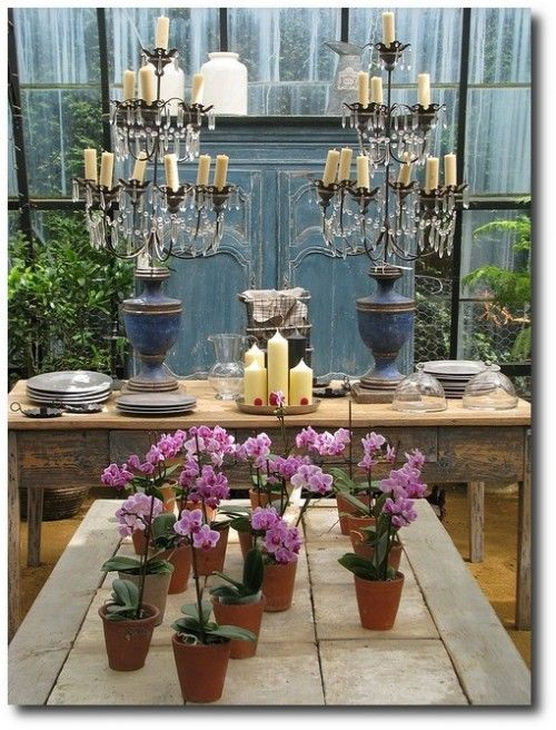 lunch at petersham nurseries 19 by adrianhind via flickr wood outdoor furniture - Garden Furniture Colour Ideas