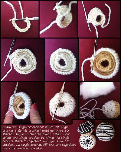 Crochet donut tutorial | Flickr - Photo Sharing!