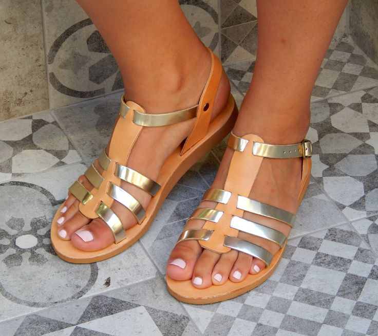 Handmade leather sandal KASSANDRA ... natural with gold ...... Romba's leather sandals, bags, tobacco pouches, lighters cases, notebooks and more