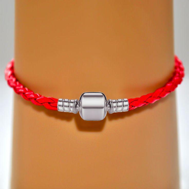 Купить Основа для браслета Пандора кожаная с клип замком - браслет женский, женский браслет