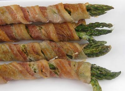 best summer appetizer for a BBQ! Bacon wrapped asparagus on the grill. delish. Have to use DCD Sweet And Smokey BBQ Sauce with this.