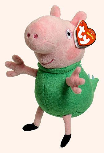 George (dinosaur costume) - pig - Ty Beanie Babies