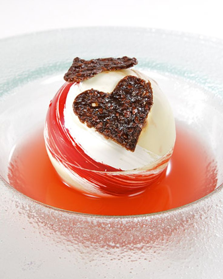 White-Chocolate Spheres Filled with Chocolate Mousse Valentine's Day Dessert Recipes   Martha Stewart Living - This one-of-a-kind dessert recipe from chef Eric Snow of The Oak Room is the perfect sweet treat for Valentine's Day.