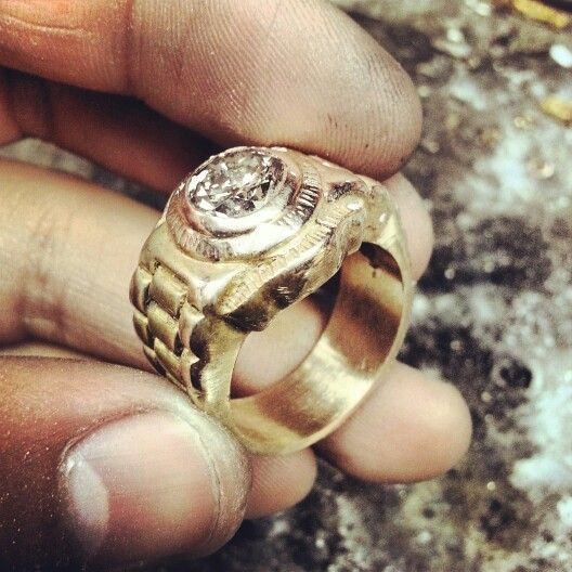 Fresh Rolex ring I worked on huge diamond