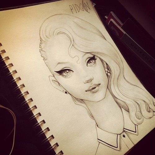 17 Best images about Sketches on Pinterest | Girls, Portrait ...