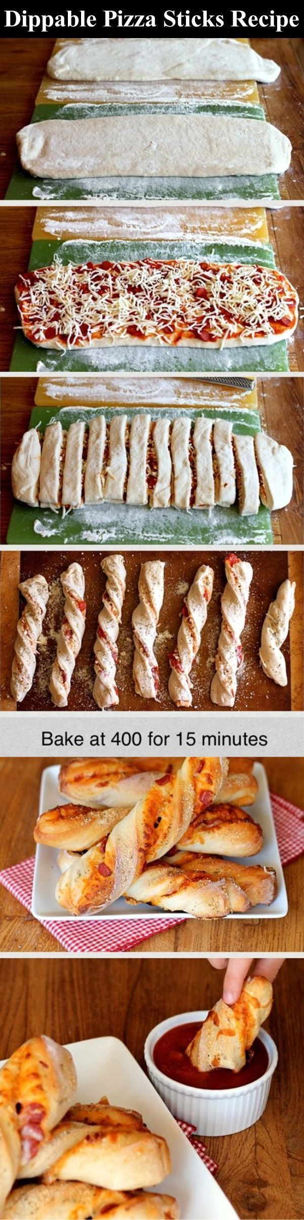 Dippable Pizza Sticks Recipe