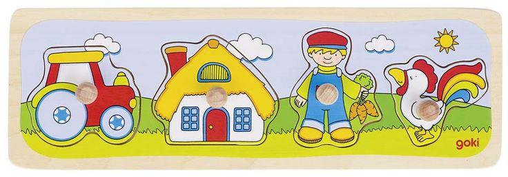 Puzzle con 4 pezzi, misurati perfettamente per mani piccoli. Il Puzzle è un gioco che aiuterà ai bambini a sviluppare la loro manualità, la loro