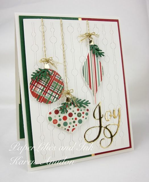 709 best CARDS-Christmas-Ornaments images on Pinterest | Holiday ...