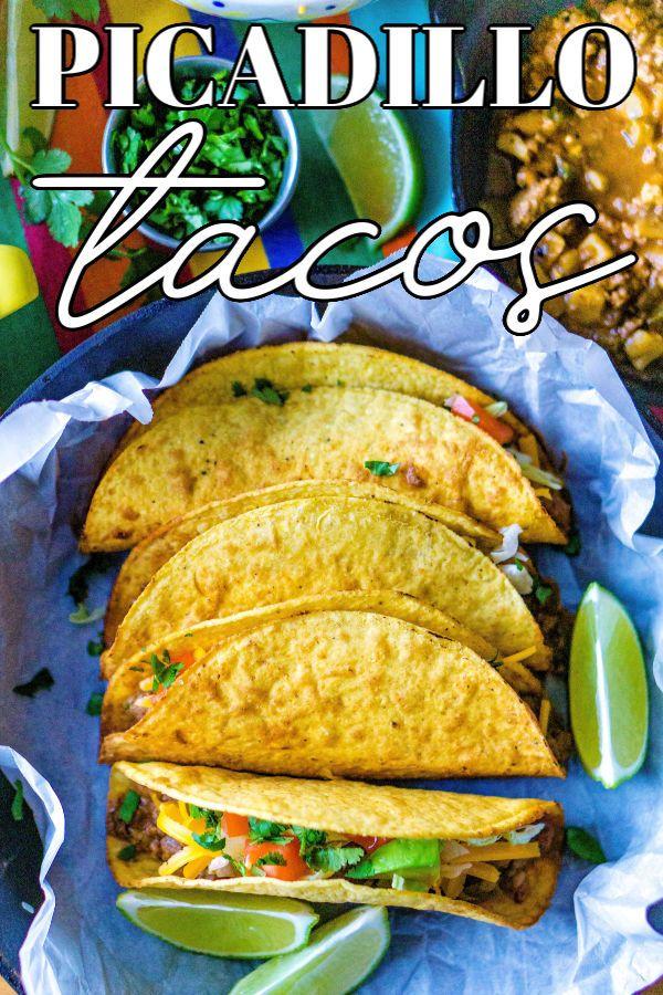 Easy Picadillo Recipe In 2020 Ground Beef And Potatoes Picadillo Recipe Potato Tacos