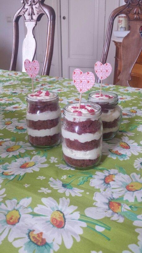 #masonjar #redvelvet cake! #yummy #dessert