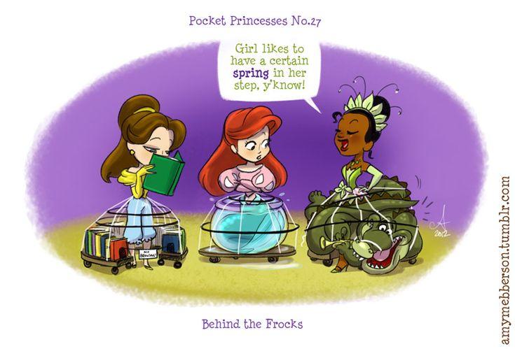 Pocket Princesses 27: Behind the Frocks. Reblog please, don't repost.