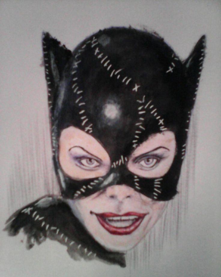 Michelle Pfeiffer Catwoman ballpen portrait