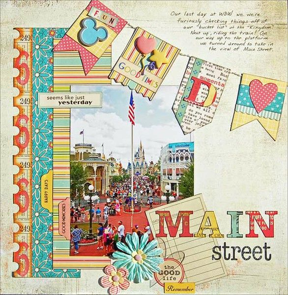 LOVE this Disney page by Madeline on 2Peas (originally submitted 11/04/11 at 10:38 AM).Scrapbook Ideas, Disney Scrapbook Pages, Magic Kingdom, Disney Layout, Papercraft Scrapbook, Scrapbook Layout, Maine Street, Main Street, Mainstreet