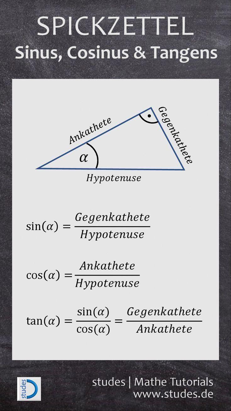 formel sinus cosinus tangens