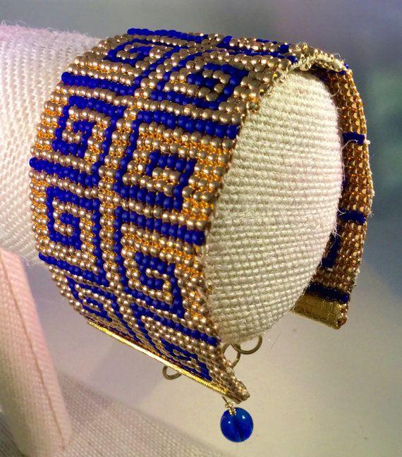 Egyptian Style Bracelet Approx. 7 long.  Hand woven by AnimabyMina