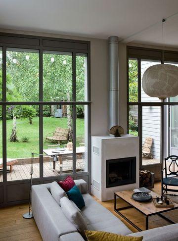 Les 20 meilleures id es de la cat gorie portes blanches sur pinterest porte int rieure portes for Baie vitree industrielle