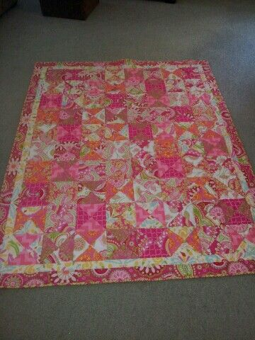 Pink Hourglass quilt - 21st gift