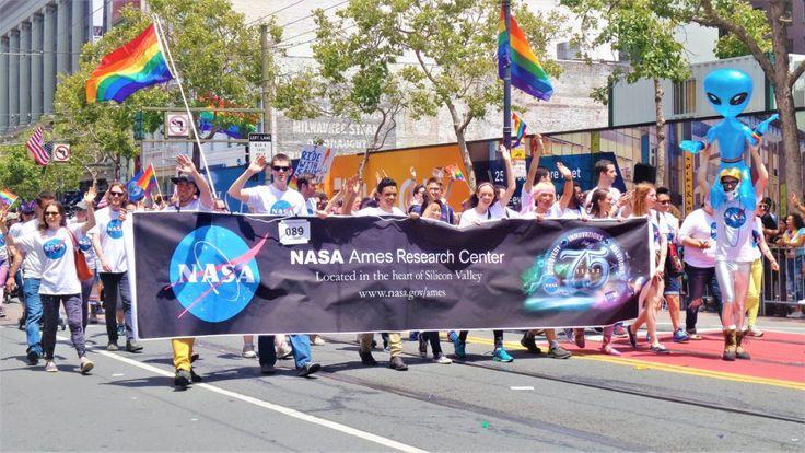 Nasa at san francisco gay pride parade, USA