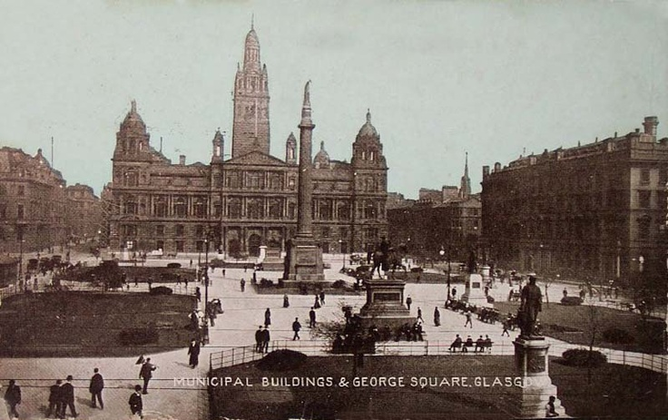 Glasgow, Municipal Buildings and George Square