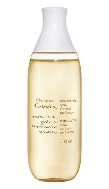 *Desodorante Colônia Spray Corporal Perfumado Macadâmia Tododia - 200ml* Para melhor perfumação, aplique nos pulsos, no pescoço e atrás das orelhas.
