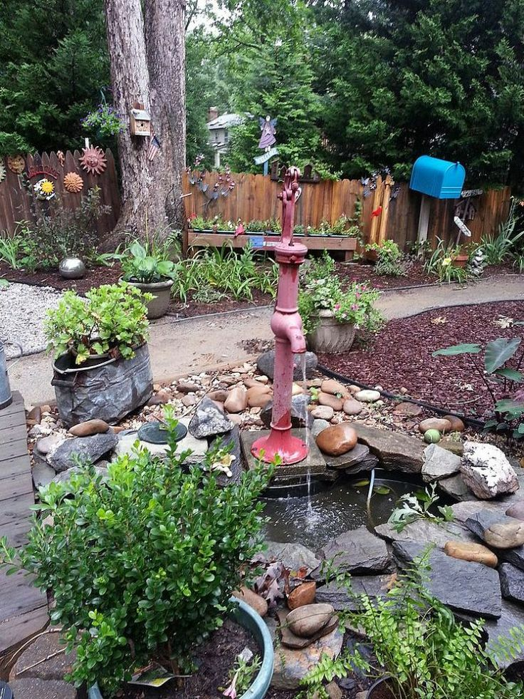 Old Hand Pump Fountain