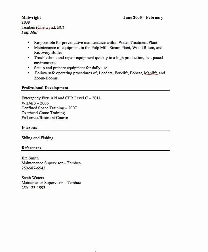 Emt job description resume luxury millwright resume sample