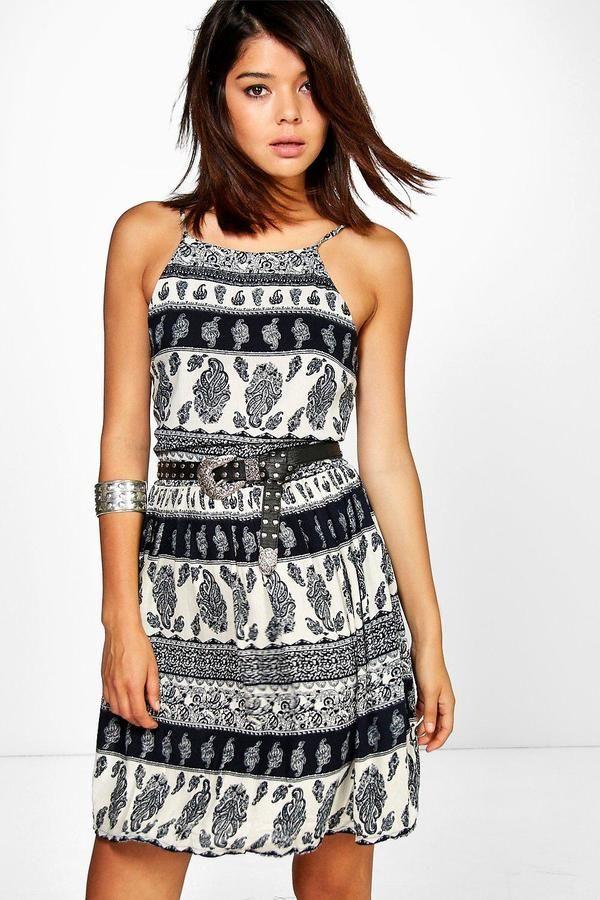 boohoo Kerry Printed Summer Dress