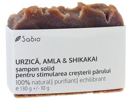 Smapon natural solid cu Urzica si Amla pentru cresterea parului