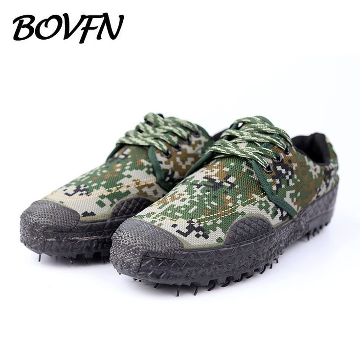 New Camouflage Military Men's Casual shoes Canvas Brand Army Tactics Breathable Flats Espadrilles Men Shoes BOVFN A905 #Affiliate