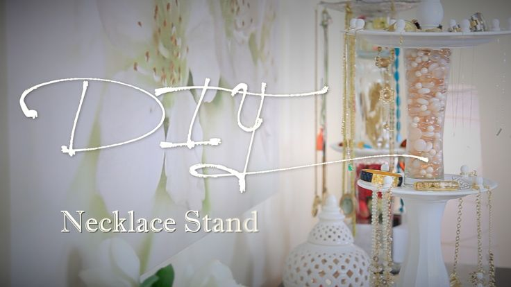 diy jewelry stands | DIY Rotating Necklace & Jewelry Stand | lifestyle