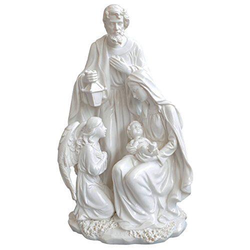 Giftgarden® Sacra Famiglia Statua con Natività di Gesù Bi…