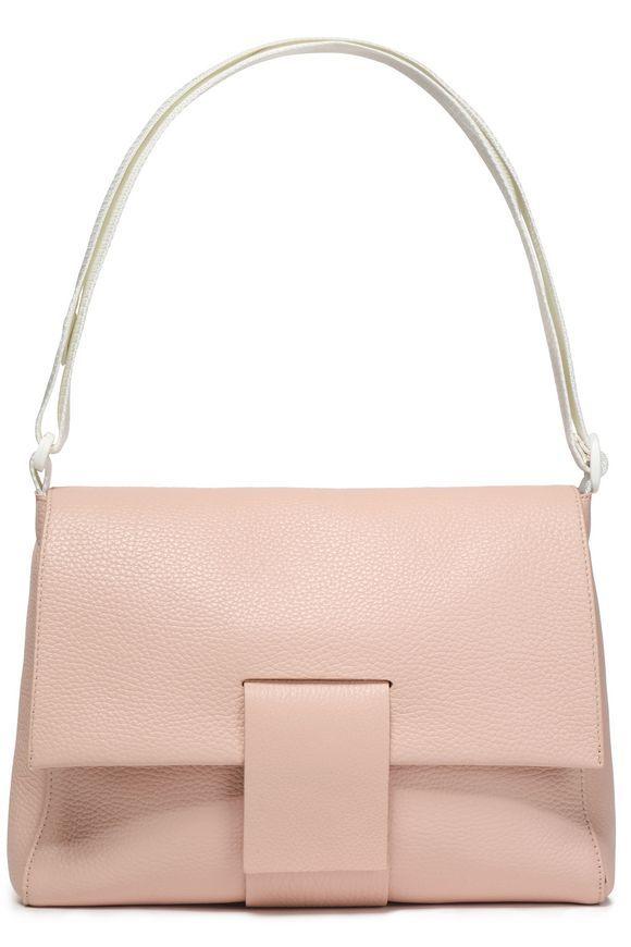 Cracked-leather shoulder bag | MM6 MAISON MARGIELA | Sale up to 70% off | THE OUTNET