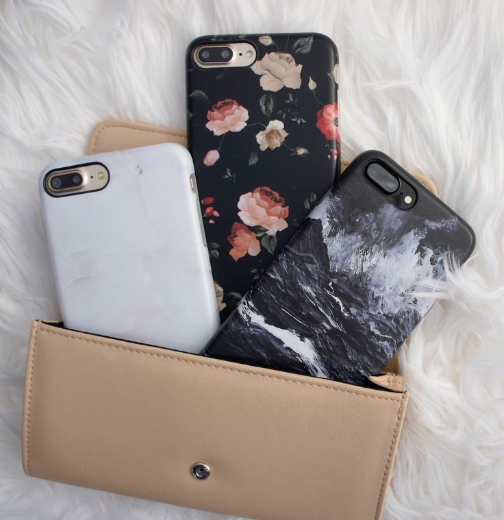 Ivory White + Dark Rose + Black Marble Cases for iPhone 7 & iPhone 7 Plus from Elemental Cases