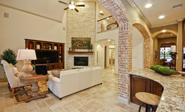 Gorgeous living area from Village Builders in Texas!