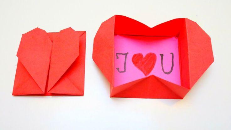 Origami Heart Box   Valentine's Day Crafts   EMMA DIY #17