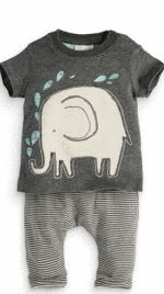 Baby Boy Casual Cotton Outfit ( 2 piece set)