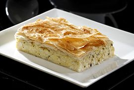 Κυπριακή τυρόπιτα με χαλούμι και δυόσμο